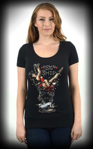 Lucky13 Scoop Neck Shirt - Sailor Down with the Ship