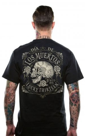 Lucky13 Mens T-Shirt - Dead Skull