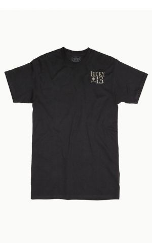 Lucky13 Mens T-Shirt - Dead Skull