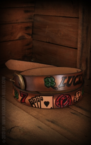 Leather belt - Lucky7