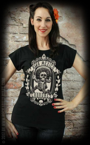 Mexican Mob - Damen T-Shirt Viva Mexico Cabrones
