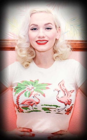 Mischief Made Ladies Shirt - Pink Flamingo