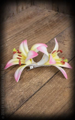 Miss Candyfloss Hairclip Lily Destinee-Sally, pink yellow