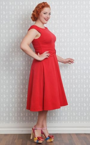 Miss Candyfloss Swing Dress Angelina, red