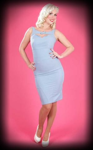 Miss Candyfloss Pencilskirt Dress - Ella, iceblue