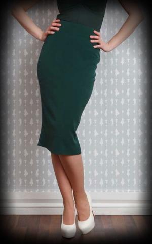 Miss Candyfloss Pencilskirt Lilly, emerald