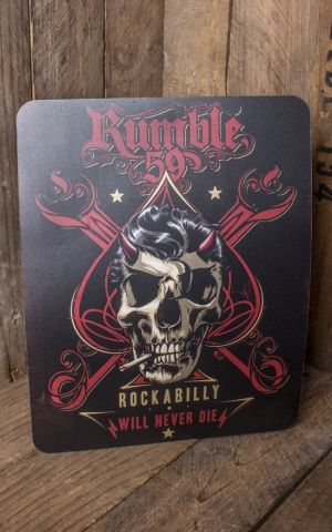 Rumble59 - Mousepad - Rockabilly will never die