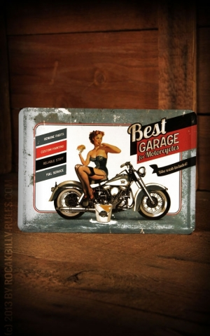 Metal card - Best Garage
