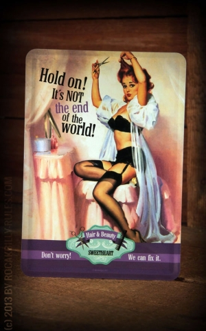 Carte postale en métal- Not the End of the World