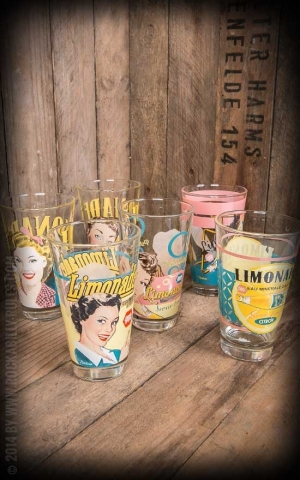 Set of 6 drinking glasses - Limonade