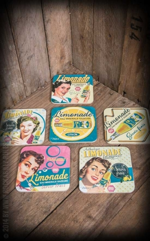 Set of 6 coasters - Limonade