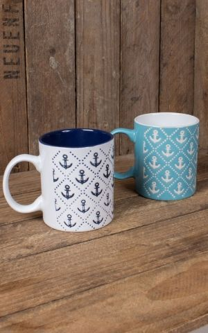 Nautical Anchor cup, various designs