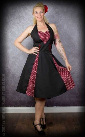 Neckholder Petticoat dress with polkadots