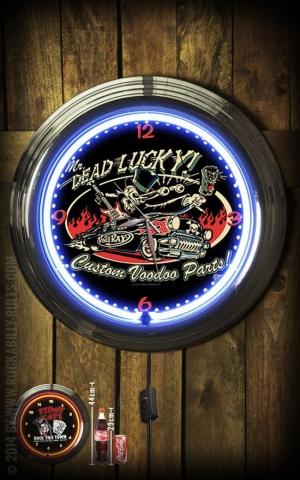 Neon Clock - Dead Lucky