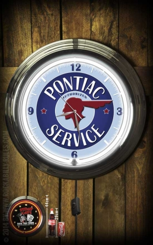 Neon Clock - Pontiac