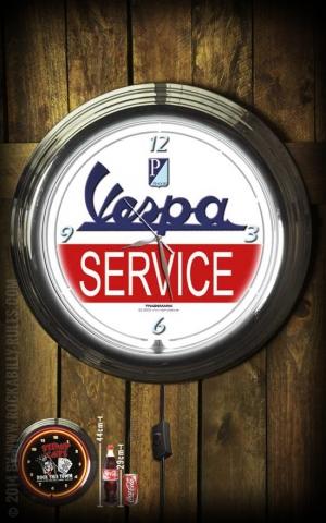 Neon Clock - Vespa Service