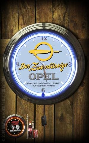 Neon Clock - Der zuverlässige Opel