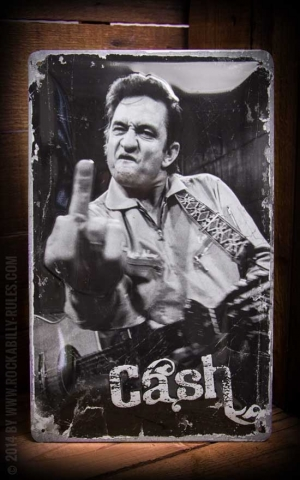 Metal sign 20 x 30cm Johnny Cash