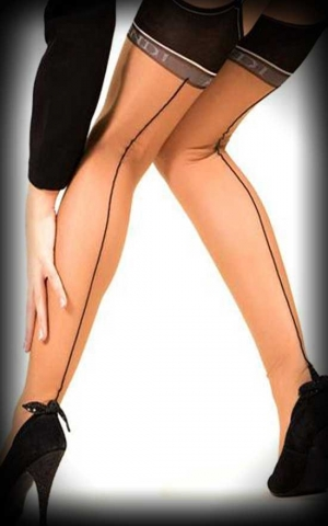Nylon stockings Blackfoot nylons with black seam