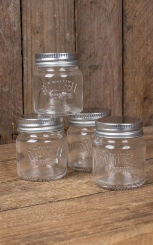 ODonnell Original Mason Jar Shot Glasses, 4cl Set of 4