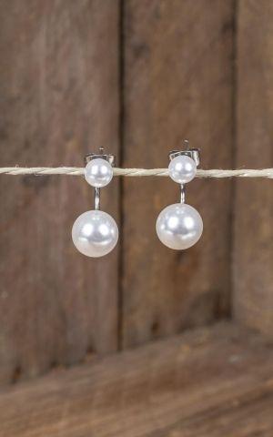 Stainless Steel Stud Earring - Pearls