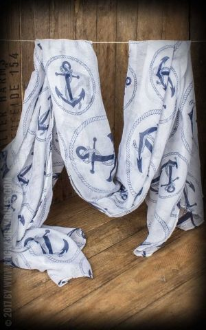 Oversize Scarf Anchor, white