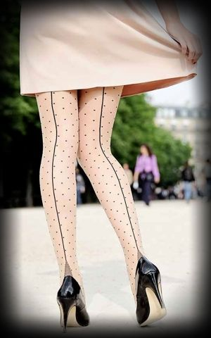 Nylon Tights Jive Polkadots