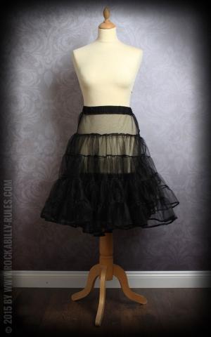 50er Jahre PinUp Petticoat - schwarz