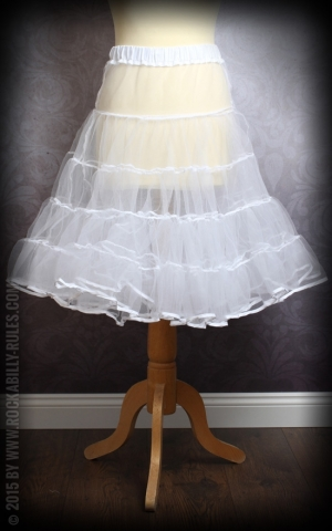 50s PinUp Petticoat - blanc