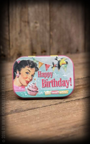 Pillendose PinUp Happy Birthday