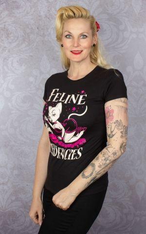 Pinky Star Ladies T-Shirt - Feline Tendencies