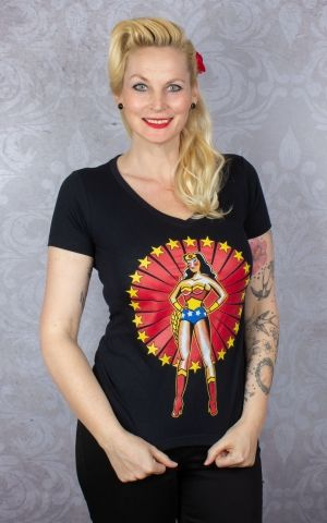 Pinky Star Damen T-Shirt - Wonder Woman