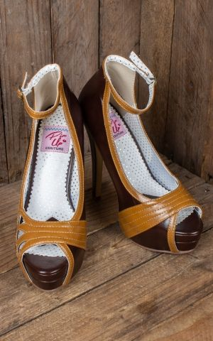 Pleaser Pin Up Couture Peeptoes Bella