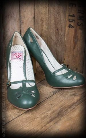 Pleaser - Escarpins Mary Jane Smitten-20, vert