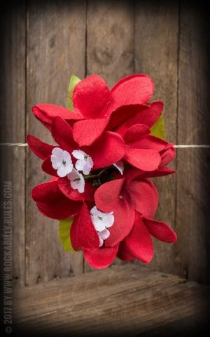 Plumeria HairClip Cherry Red