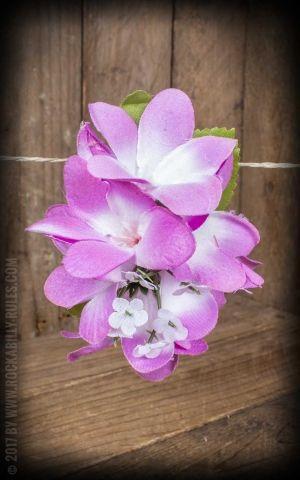 Plumeria HairClip Dark Pink