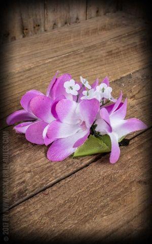 Plumeria HairClip rose vif