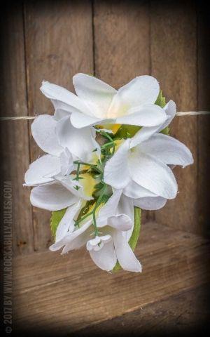 Plumeria HairClip frangipanier blanc