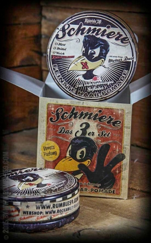 Rumble59 - Schmiere - Triple Set Pomade Rock-Hard