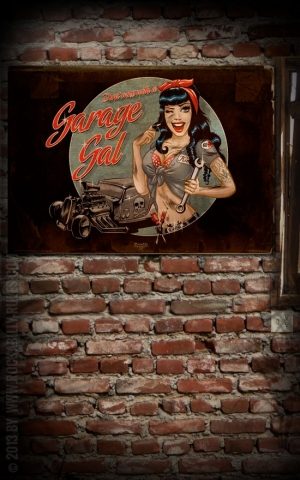 Rumble59 Poster - Garage Gal