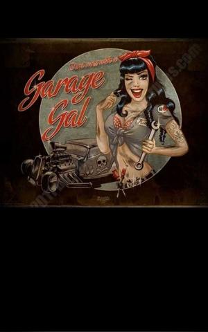 Rumble59 Poster - Garage Gal