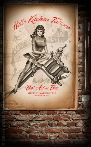 Rumble59 Poster - Hells Kitchen Tattoo