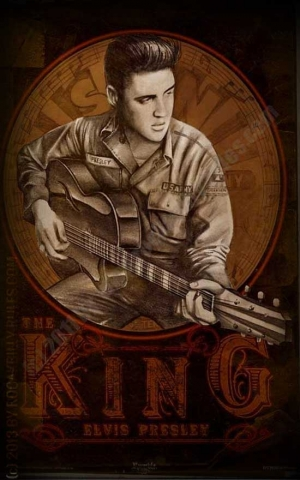 Rumble59 Poster - Young Elvis