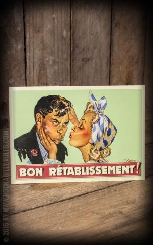 Postkarte - Gute Besserung Bon Rétablissement