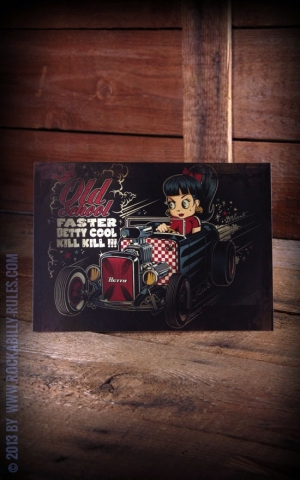 Postkarte - Faster Betty by David Vicente