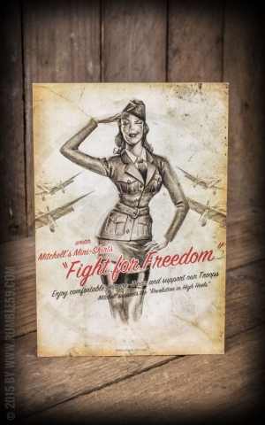 Postkarte - Fight for freedom