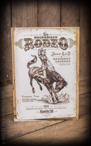 Postkarte - Rockabilly Rodeo