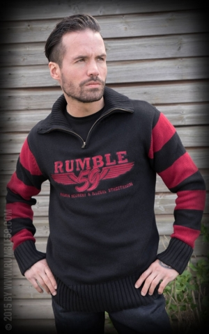 Rumble59 - Moonshine - Club Sweater red