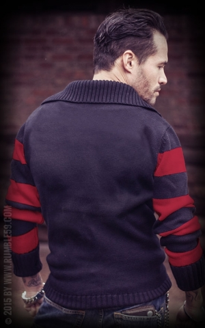Rumble59 - Racing Sweater - schwarz/rot