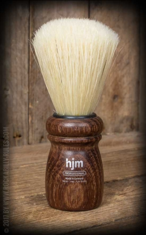 Shaving Brush extra large, pure colored bristle, acacia wood